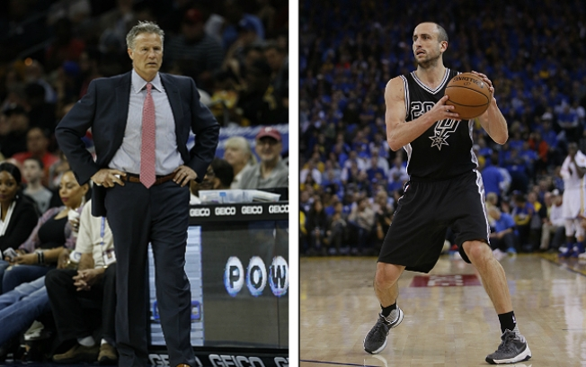 Manu Ginobili Intrigued by Coach Brett Brown, Sixers Before Re-signing With Spurs