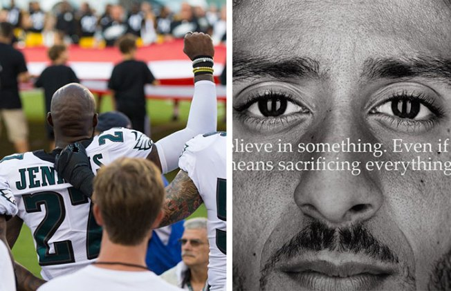Vocal Eagles Show Support for Nike and Colin Kaepernick's Bold Message