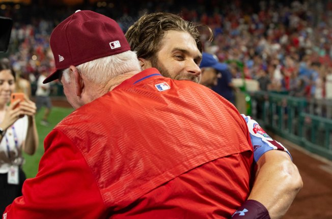 Bryce Harper Almost Tackling Charlie Manuel After His Grand Slam Was the Best