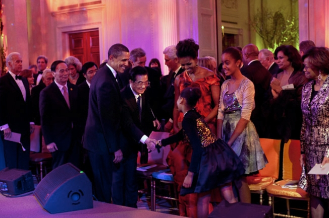 12-Year-Old Malia Obama Wore Designer Frock To State Dinner
