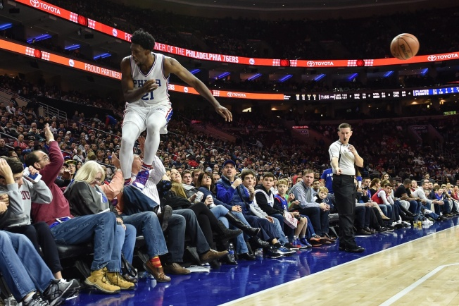 You Can Thank Allen Iverson in Part for Joel Embiid Diving Into the Stands