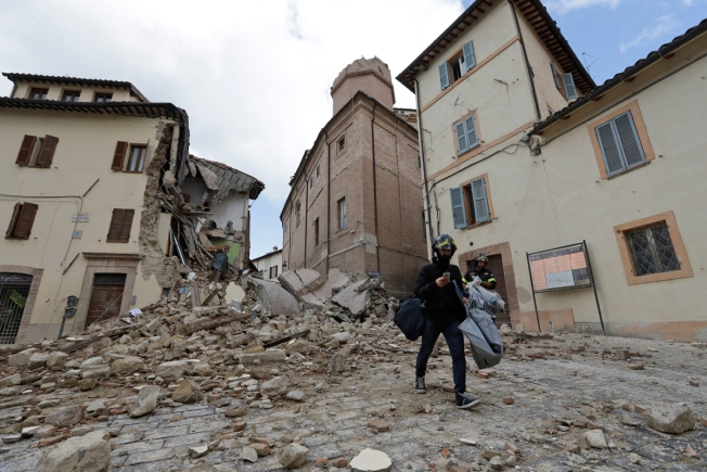 Old city near epicenter hard hit by Italy quake
