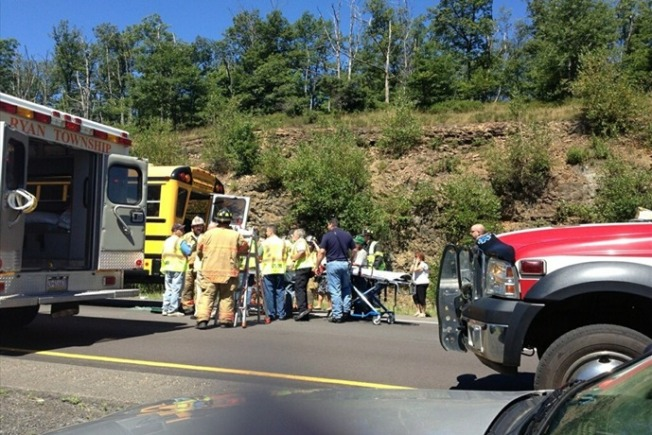 Tractor-Trailer Hits School Bus, 25 Students With Minor Injuries