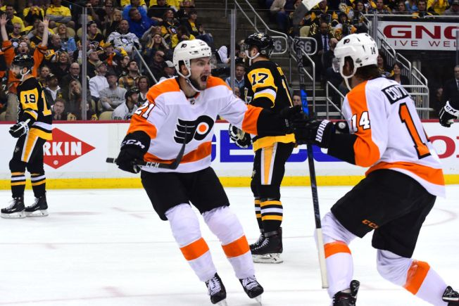 Flyers Force Game 6 With Penguins on Sean Couturier's Late Goal