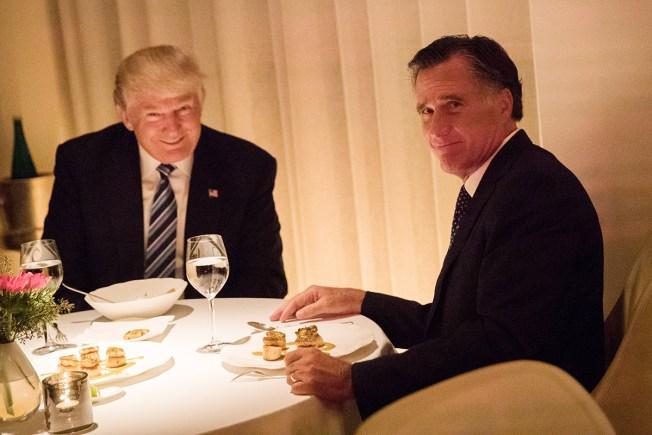 Mitt Romney Praises President-elect Trump After Dinner
