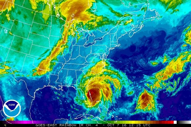 Radars Show Birds Trapped in Eye of Hurricane Matthew