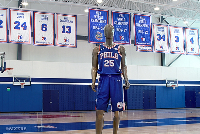 Subtle Change to New Sixers  Jerseys Has Fans Seeing Red - NBC 10 ... bfece0f63