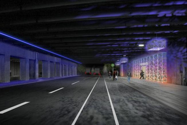 Northern Liberties Underpass Going from Ugly to Artsy