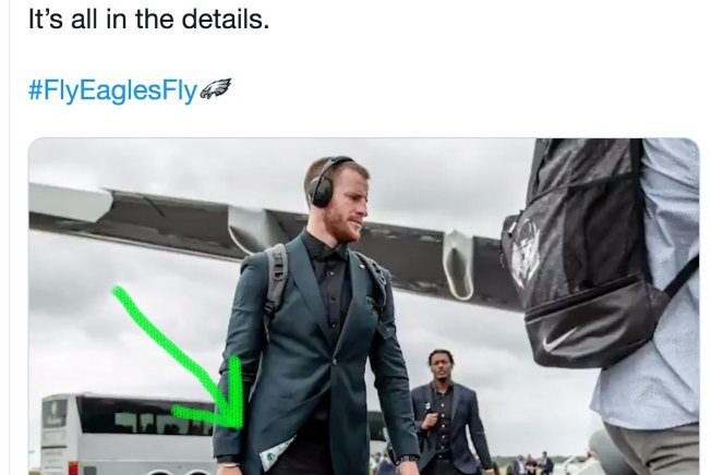 DeSean Jackson and Carson Wentz Show Love for Kelly Green With Baller Suits