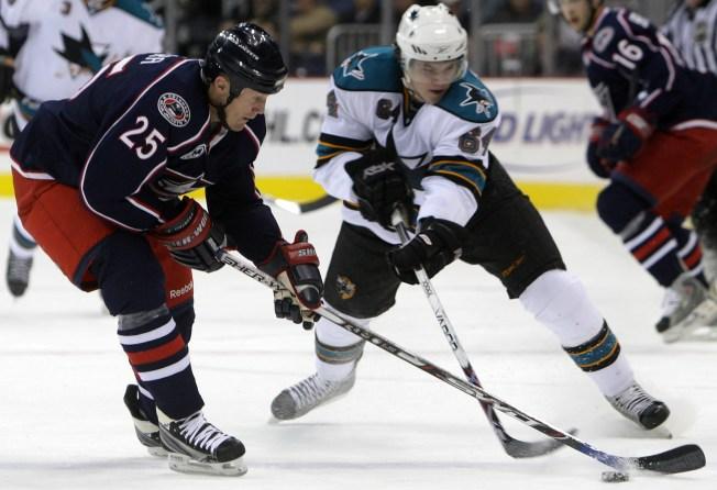 NHL Last Night: Blue Jackets Down Hot Sharks in OT