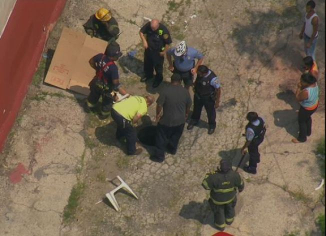Person Rescued After Falling Into Manhole