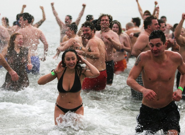Hundreds Take a Chilly Plunge for Special Olympics