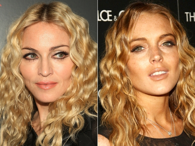 ROLL CALL: Madonna & Lindsay Rock The Same Locks