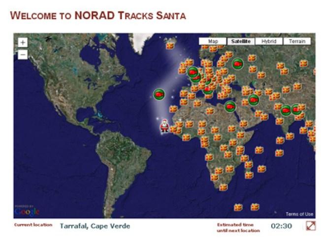 Track Santa on Christmas Eve!