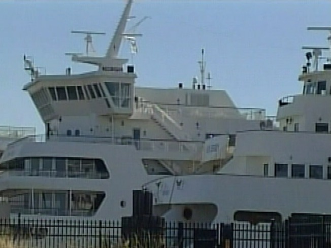 Ferry Stuck in Cape May