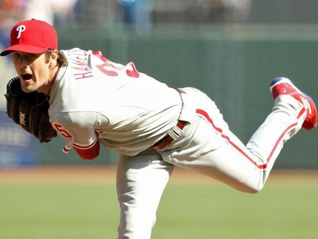 Hamels Gets Roughed Up in Phils Win