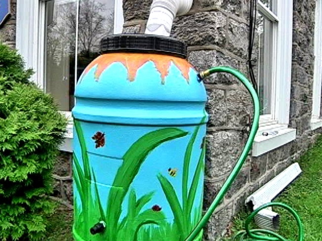 Recycled Rain Barrels for Sale