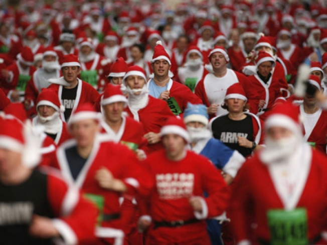 Running of the Drunks, er, Santas