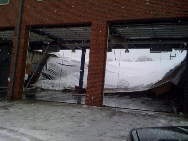 Firehouse Roof Collapses Under Heavy Snow