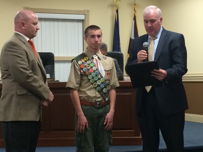 "Eagle Scout Honored After ""Impressive"" Project"