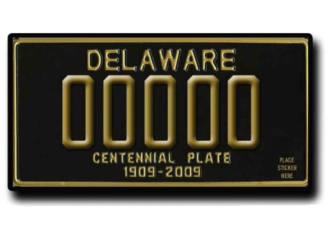 Delaware Offers Commemorative License Plates