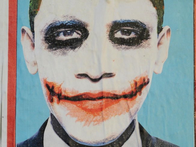 NAACP Protests Obama Joker Banner at Strip Club
