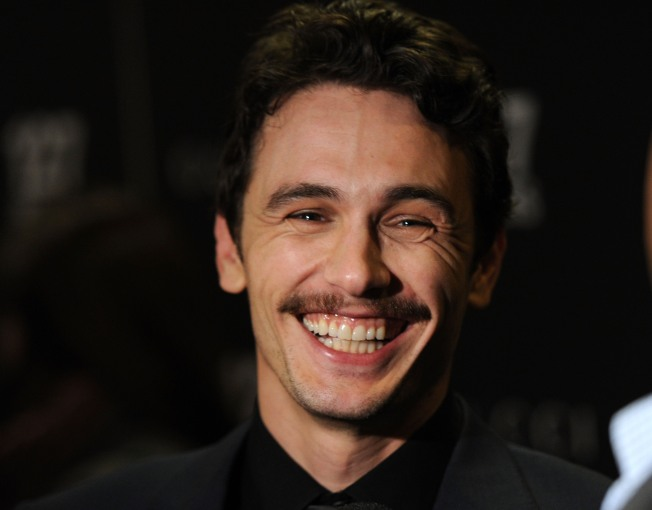 "James Franco Frenzy on Set of ""Inside the Actor's Studio"""