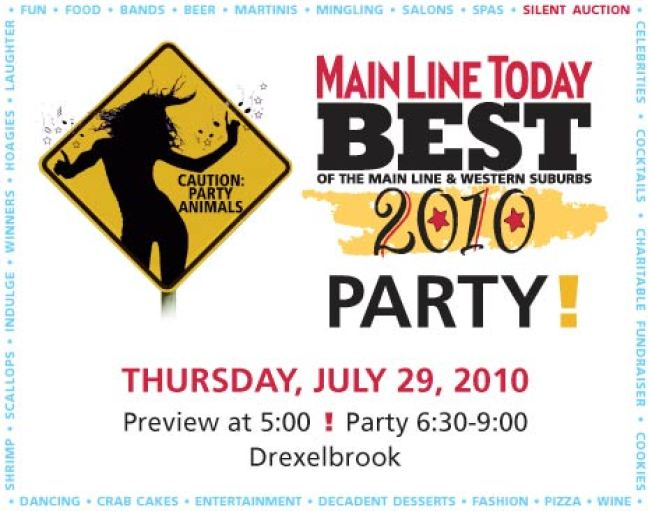 10! Spotlight: 2010 Best of the Main Line and Western Suburbs Party