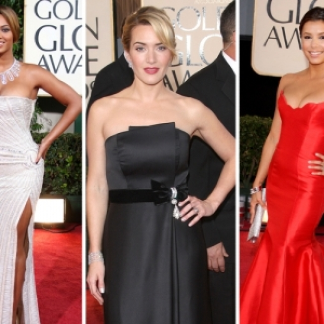 Golden Globes Style Trend: Strapless Gowns Galore!