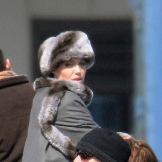 Angelina Jolie Still Foxy In 'Salt' Faux Fur