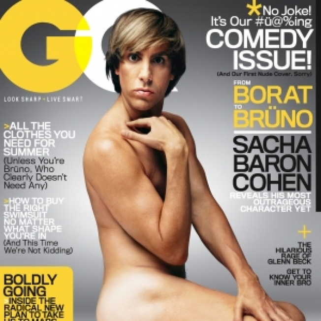 Sacha Baron Cohen's Nude GQ Cover Tribute To Jennifer Aniston