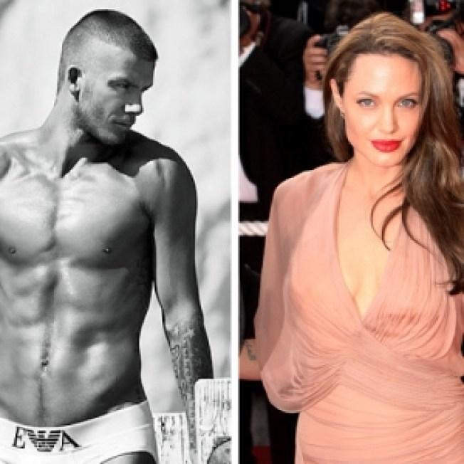 ROLL CALL: David Beckham & Angelina Jolie To Partner For Undies Ad?
