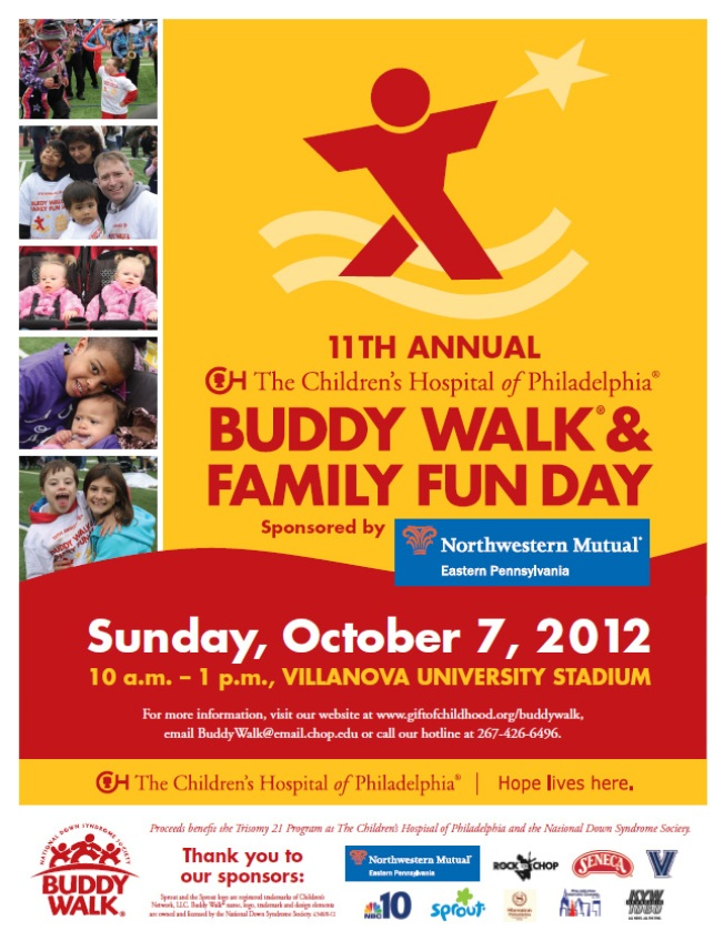 Buddy Walk for CHOP on October 7, 2012
