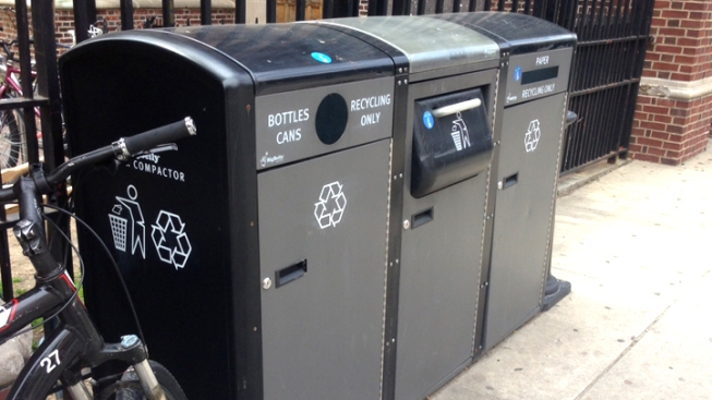Solar Trash Cans Save City Millions