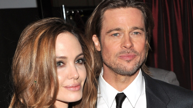 Angelina Jolie and Brad Pitt Caucus with Obama