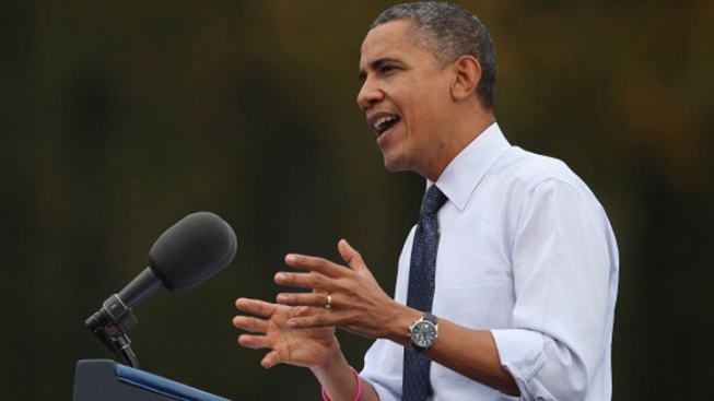"""President Suggests Opponent Has """"Romnesia"""" for Shifting Positions"""