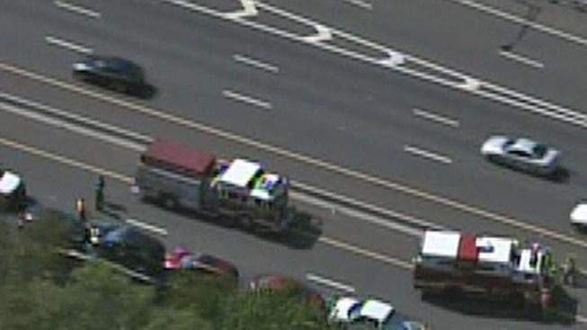Motorcycle Crash Snarls Traffic on I-295