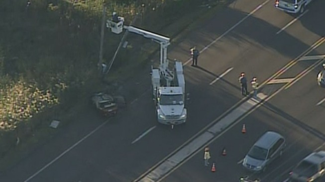 Driver Hurt in 309 Car Crash