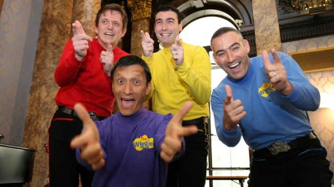 Purple, Red and Yellow Wiggles Leaving Band