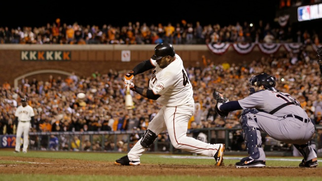 Sandoval's 3 HR's Lead Giants to 8-3 Romp in Opener