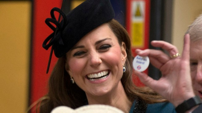 "Pregnant Kate Gets ""Baby on Board"" Badge"