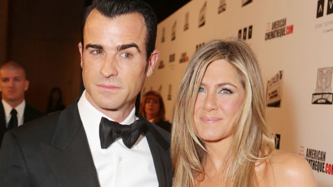 "Aniston Says She, Theroux ""Already Feel Married"""
