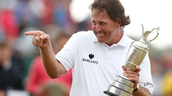 Mickelson Wins British Open for 1st Time with Brilliant Finish