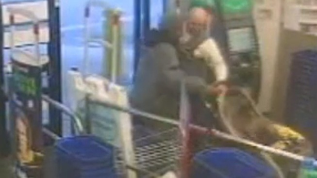 Caught on Cam: Man Robs Store While Pushing Baby in Stroller