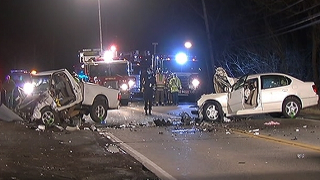 2 Seriously Injured in Head-On Collision