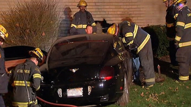 Driver Crashes Bentley Into Building, Charged With DUI