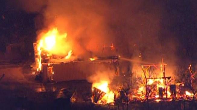 Crews Battle Massive Barn Fire