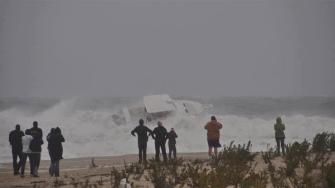 Caught on Cam: Boat Nearly Capsizes at Jersey Shore