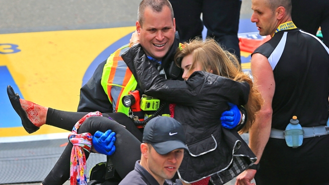 Search for Family, Friends at Boston Marathon