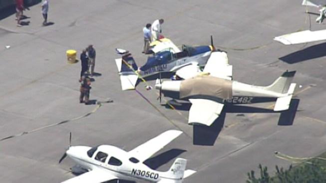 Pilot Injured in Plane Crash at Airport